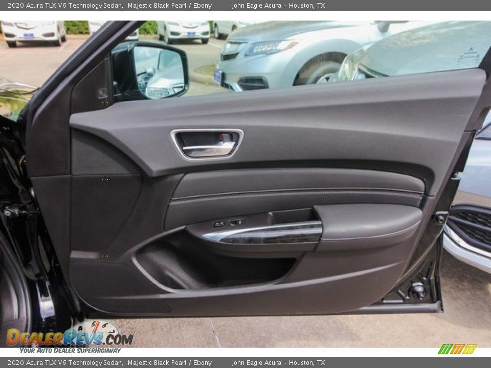 2020 Acura TLX V6 Technology Sedan Majestic Black Pearl / Ebony Photo #22