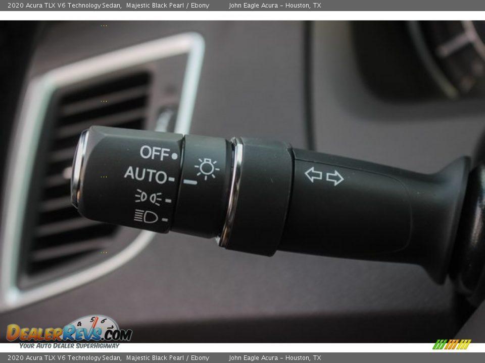 2020 Acura TLX V6 Technology Sedan Majestic Black Pearl / Ebony Photo #36