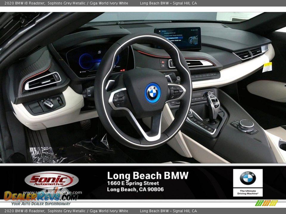 2020 BMW i8 Roadster Sophisto Grey Metallic / Giga World Ivory White Photo #7