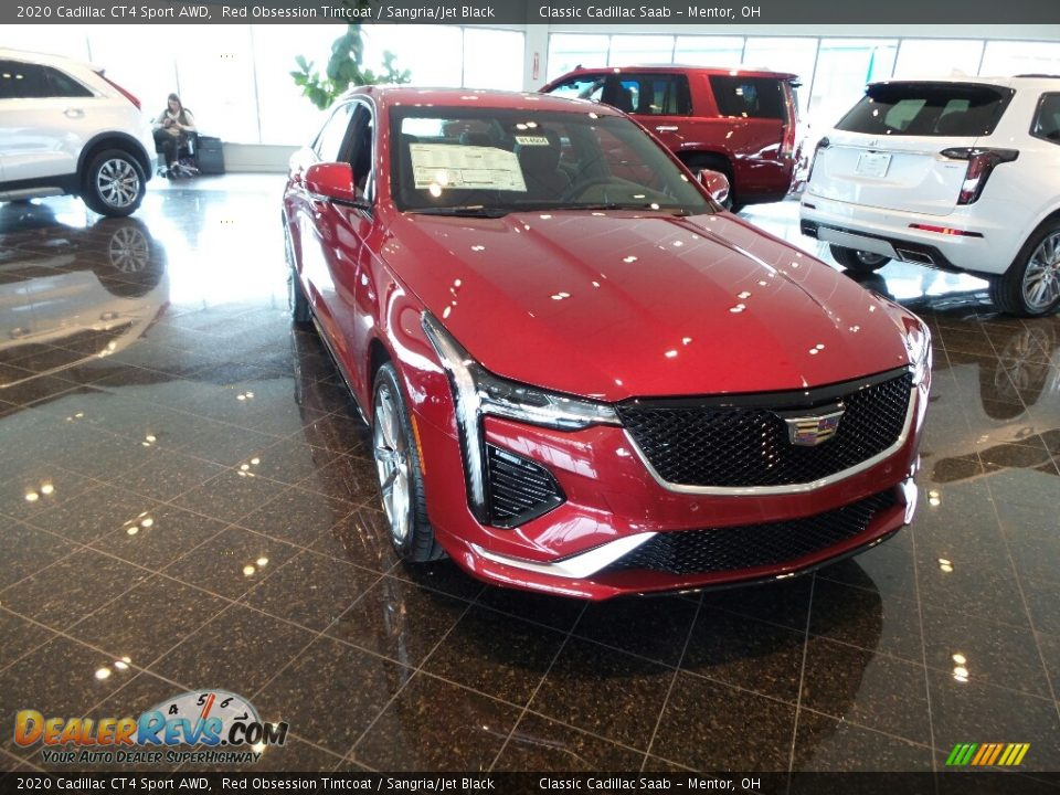 2020 Cadillac CT4 Sport AWD Red Obsession Tintcoat / Sangria/Jet Black Photo #1