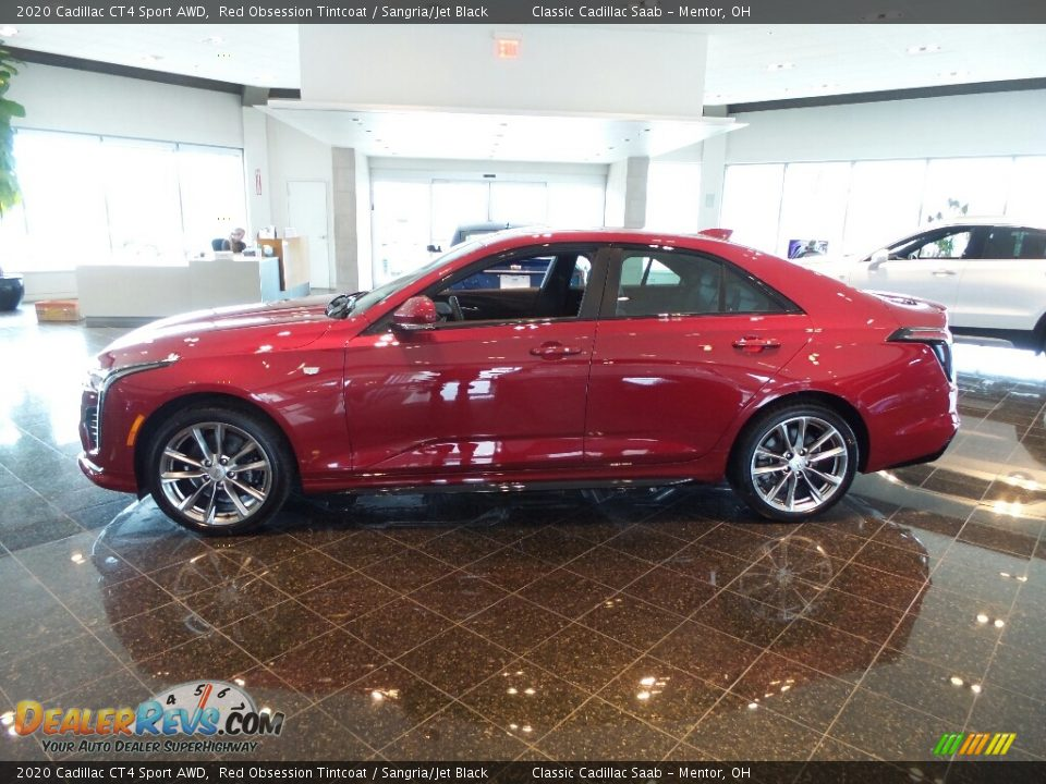 Red Obsession Tintcoat 2020 Cadillac CT4 Sport AWD Photo #2