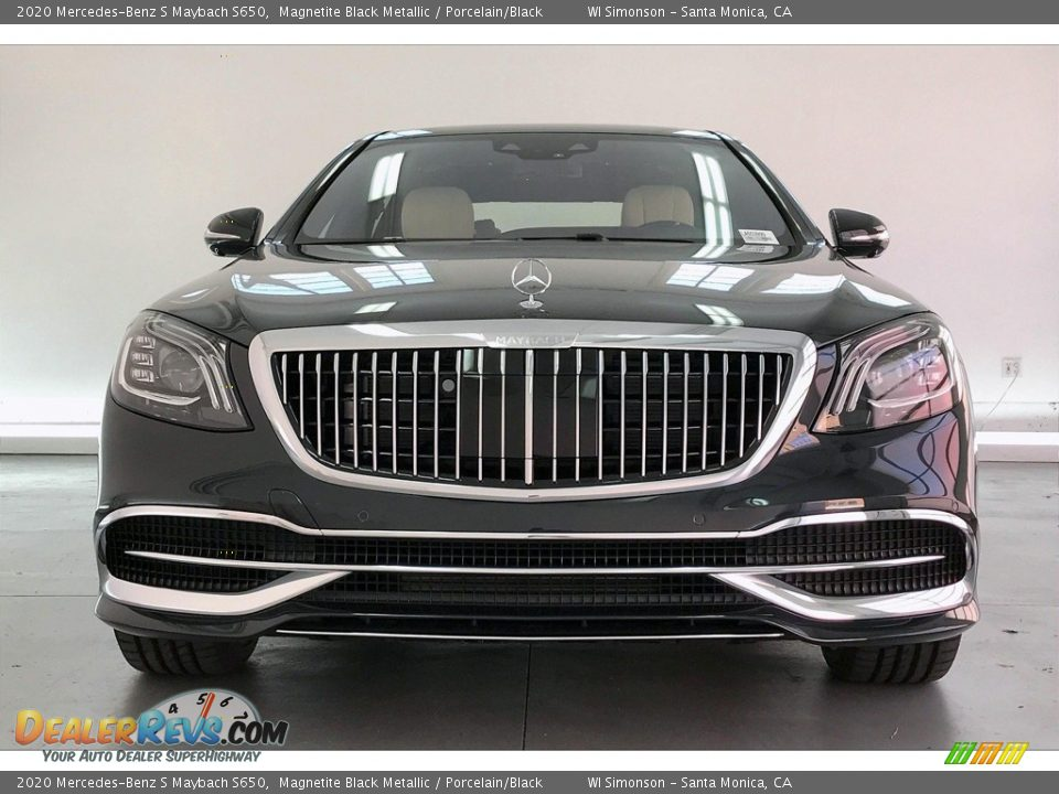 2020 Mercedes-Benz S Maybach S650 Magnetite Black Metallic / Porcelain/Black Photo #2