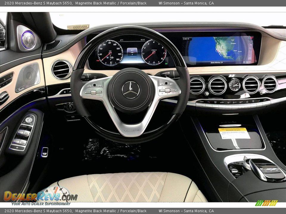 2020 Mercedes-Benz S Maybach S650 Magnetite Black Metallic / Porcelain/Black Photo #4
