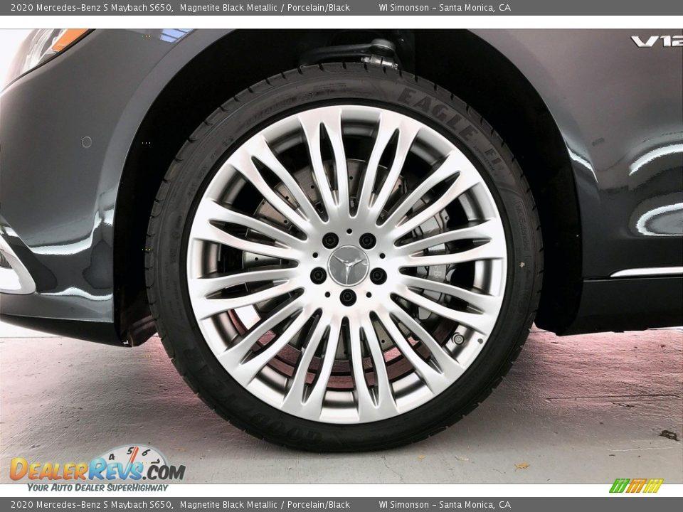 2020 Mercedes-Benz S Maybach S650 Magnetite Black Metallic / Porcelain/Black Photo #8