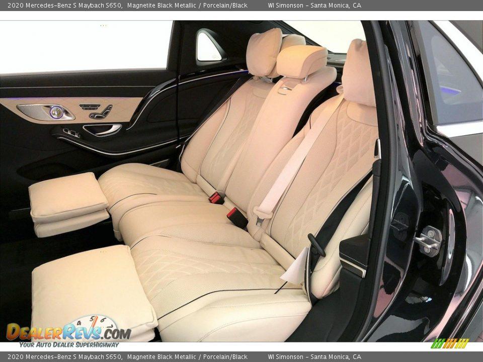 2020 Mercedes-Benz S Maybach S650 Magnetite Black Metallic / Porcelain/Black Photo #15
