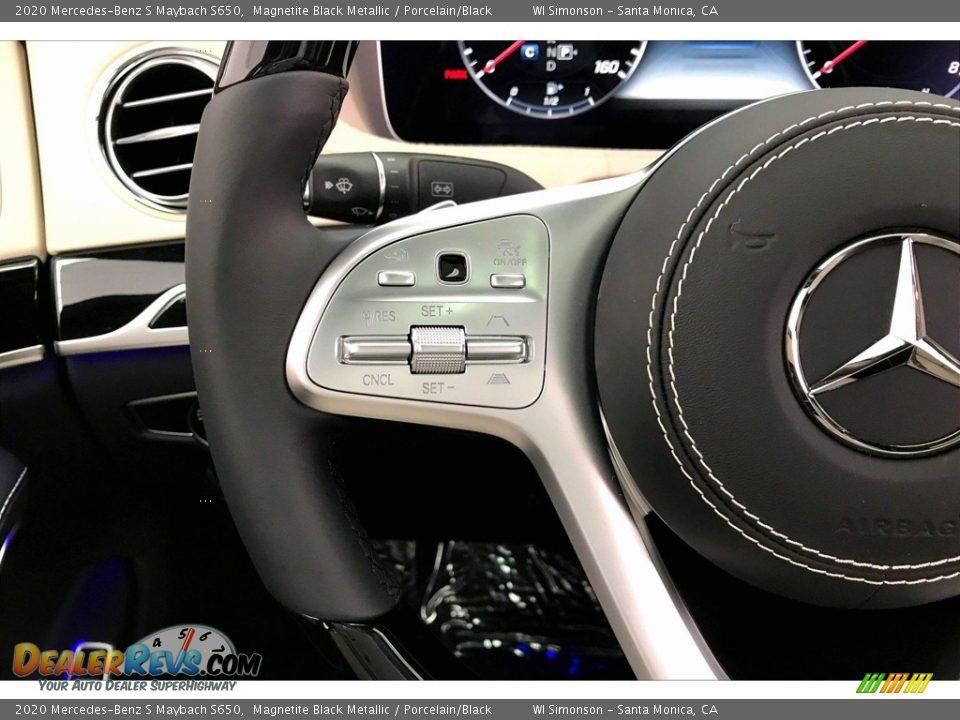 2020 Mercedes-Benz S Maybach S650 Magnetite Black Metallic / Porcelain/Black Photo #18