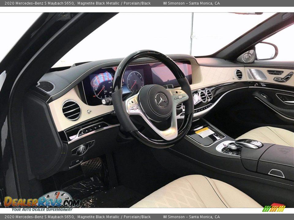 2020 Mercedes-Benz S Maybach S650 Magnetite Black Metallic / Porcelain/Black Photo #22
