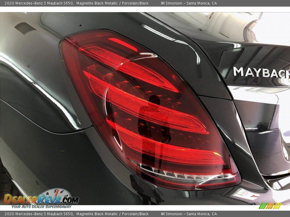 2020 Mercedes-Benz S Maybach S650 Magnetite Black Metallic / Porcelain/Black Photo #26