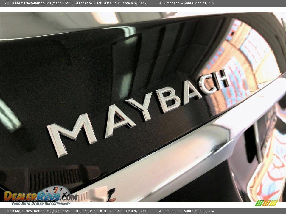 2020 Mercedes-Benz S Maybach S650 Magnetite Black Metallic / Porcelain/Black Photo #27