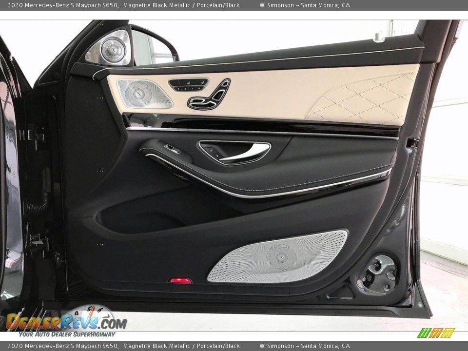 2020 Mercedes-Benz S Maybach S650 Magnetite Black Metallic / Porcelain/Black Photo #30