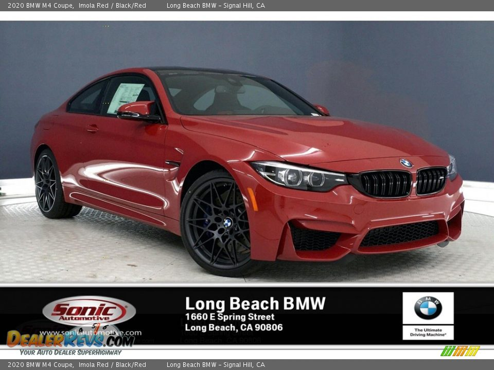 2020 BMW M4 Coupe Imola Red / Black/Red Photo #1