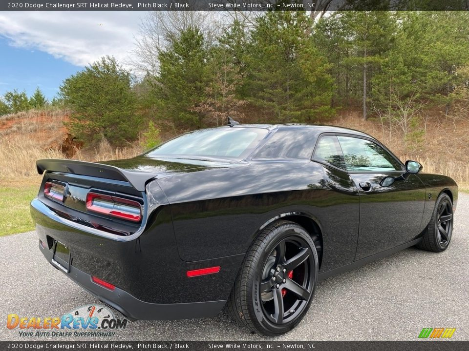 2020 Dodge Challenger SRT Hellcat Redeye Pitch Black / Black Photo #6