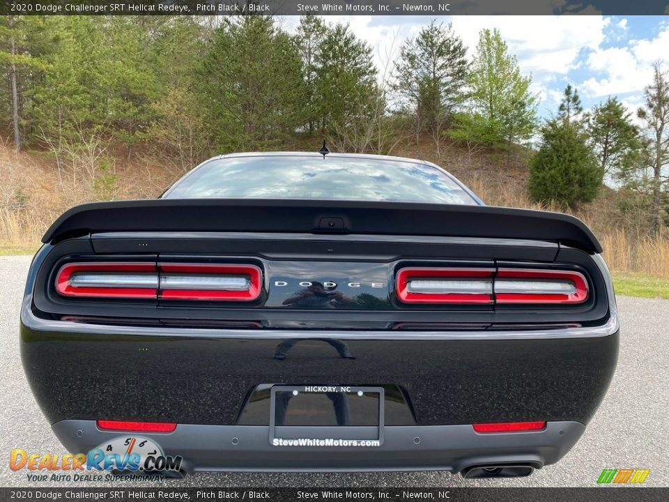 2020 Dodge Challenger SRT Hellcat Redeye Pitch Black / Black Photo #7