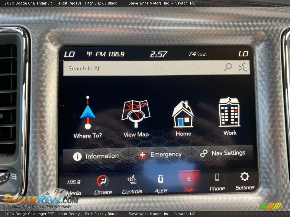 Controls of 2020 Dodge Challenger SRT Hellcat Redeye Photo #24