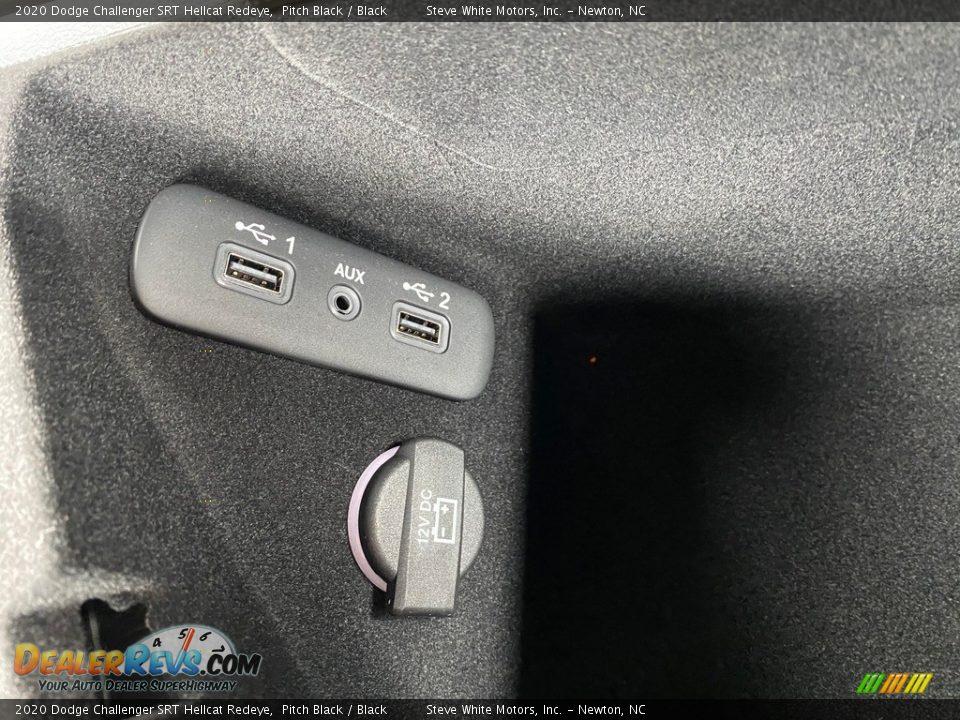 2020 Dodge Challenger SRT Hellcat Redeye Pitch Black / Black Photo #30