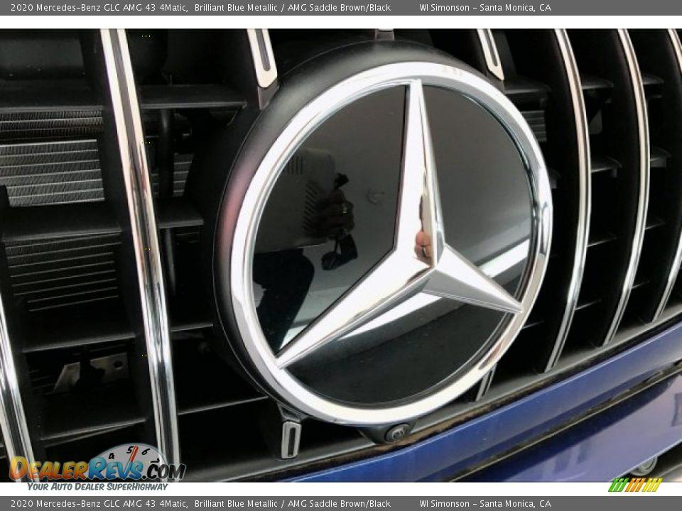 2020 Mercedes-Benz GLC AMG 43 4Matic Brilliant Blue Metallic / AMG Saddle Brown/Black Photo #33