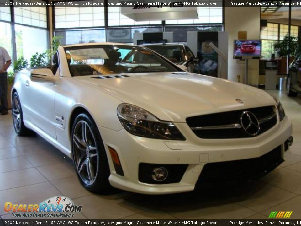 2009 mercedes benz sl 63 amg iwc edition roadster designo for Mercedes benz white paint