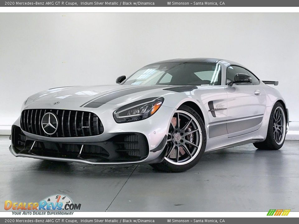 2020 Mercedes-Benz AMG GT R Coupe Iridium Silver Metallic / Black w/Dinamica Photo #12