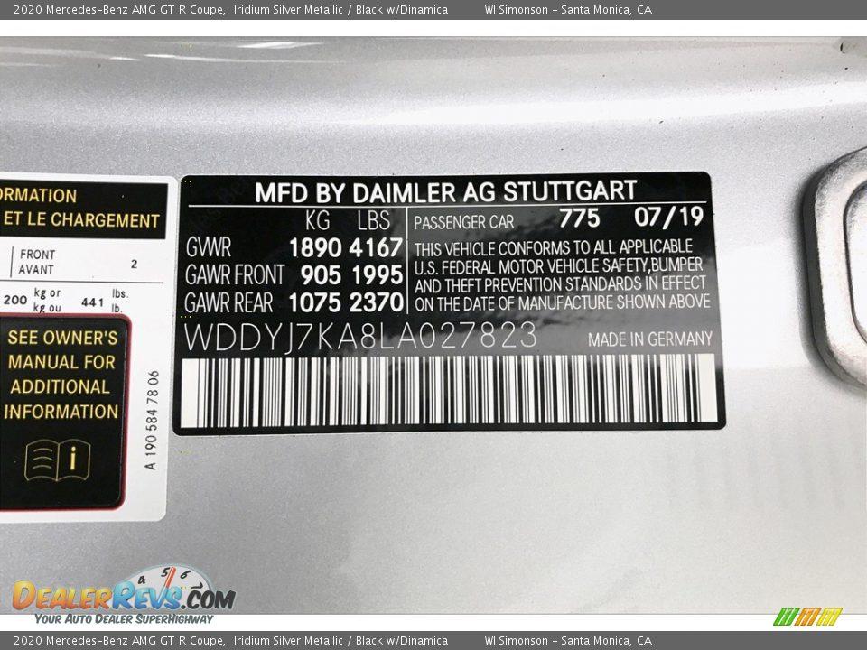 2020 Mercedes-Benz AMG GT R Coupe Iridium Silver Metallic / Black w/Dinamica Photo #22
