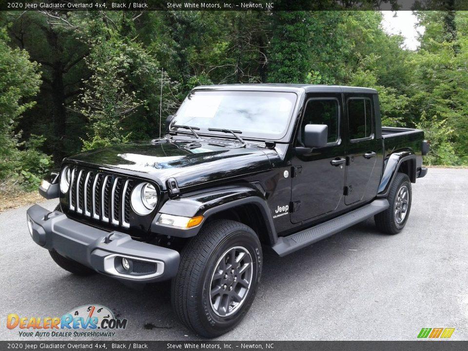 2020 Jeep Gladiator Overland 4x4 Black / Black Photo #2