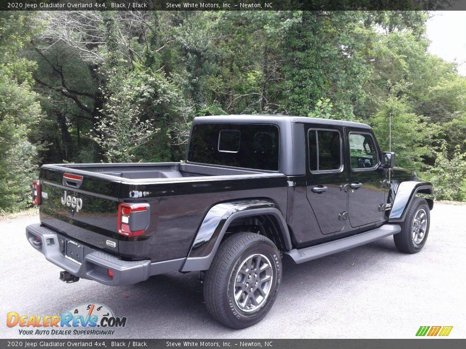 2020 Jeep Gladiator Overland 4x4 Black / Black Photo #6
