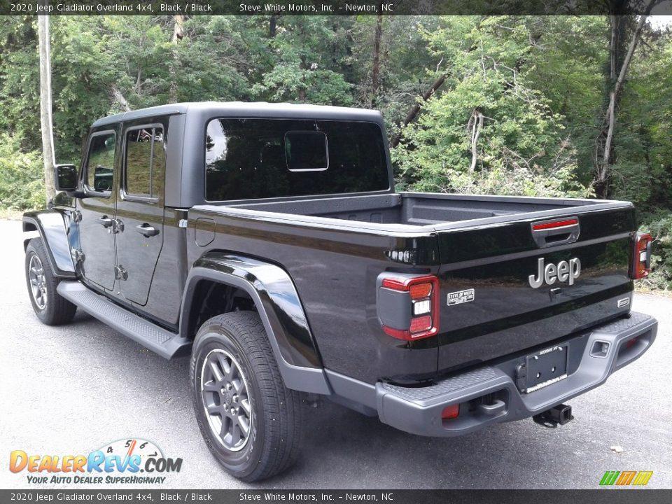 2020 Jeep Gladiator Overland 4x4 Black / Black Photo #9