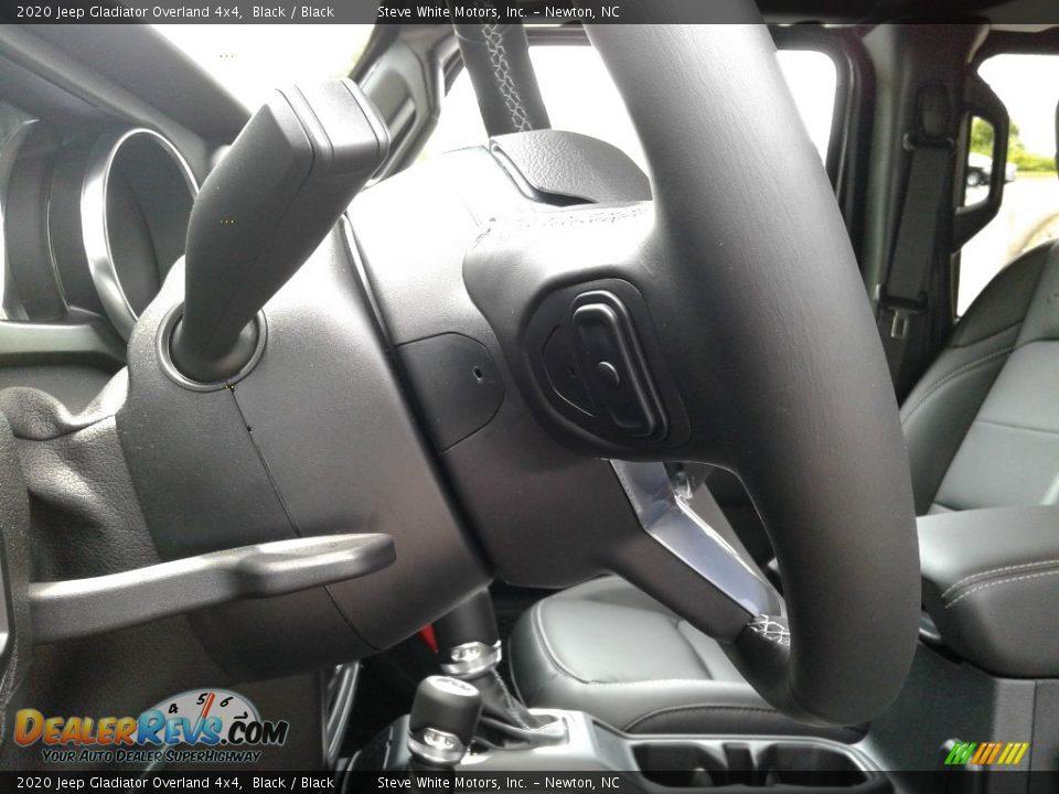 2020 Jeep Gladiator Overland 4x4 Black / Black Photo #13