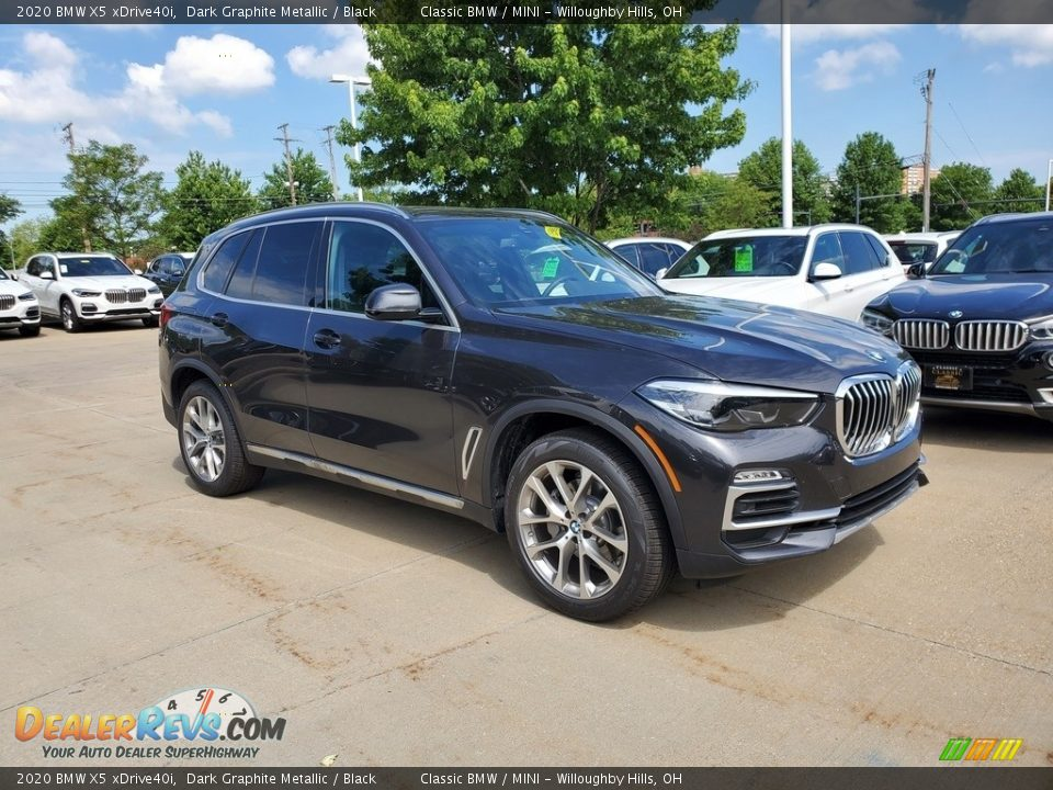 2020 BMW X5 xDrive40i Dark Graphite Metallic / Black Photo #1