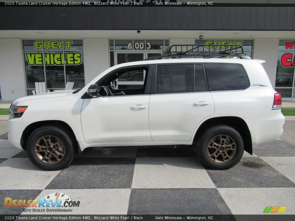 2020 Toyota Land Cruiser Heritage Edition 4WD Blizzard White Pearl / Black Photo #1