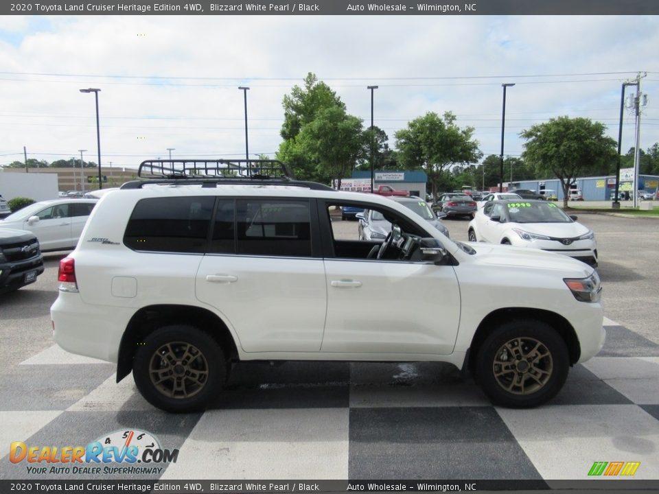 2020 Toyota Land Cruiser Heritage Edition 4WD Blizzard White Pearl / Black Photo #3