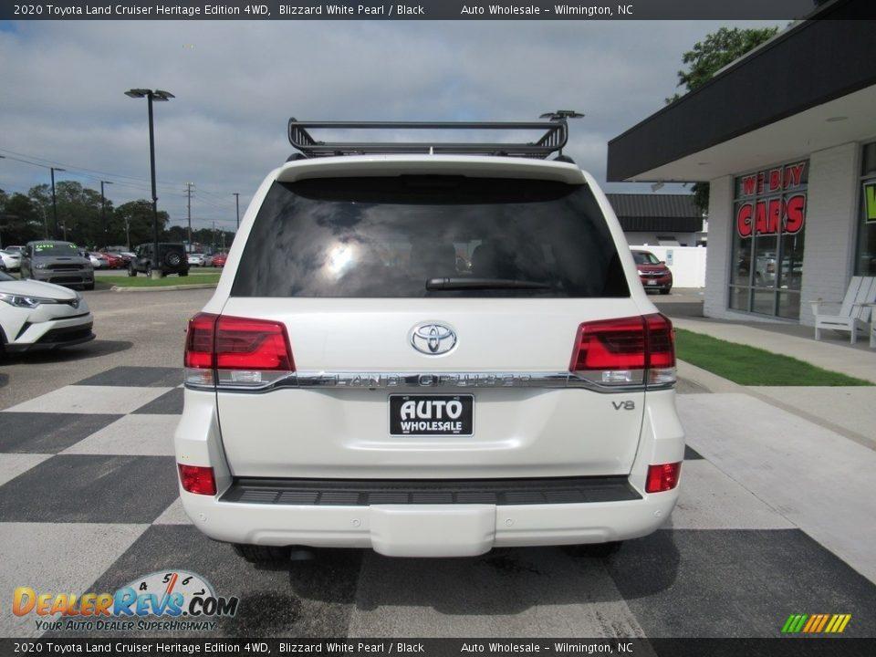 2020 Toyota Land Cruiser Heritage Edition 4WD Blizzard White Pearl / Black Photo #4