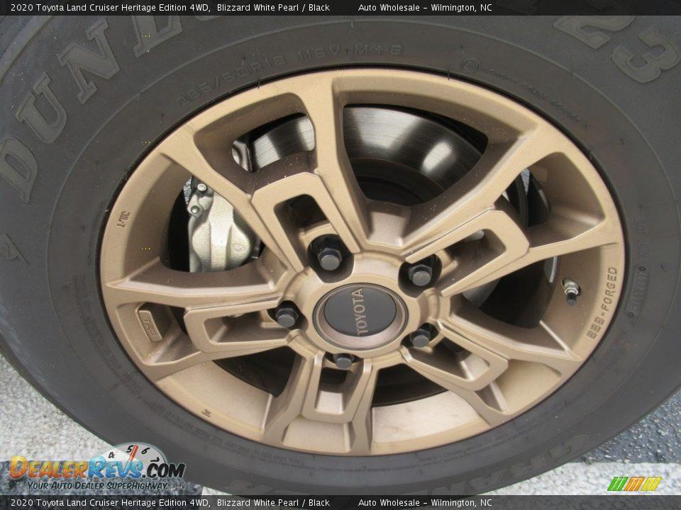2020 Toyota Land Cruiser Heritage Edition 4WD Blizzard White Pearl / Black Photo #7