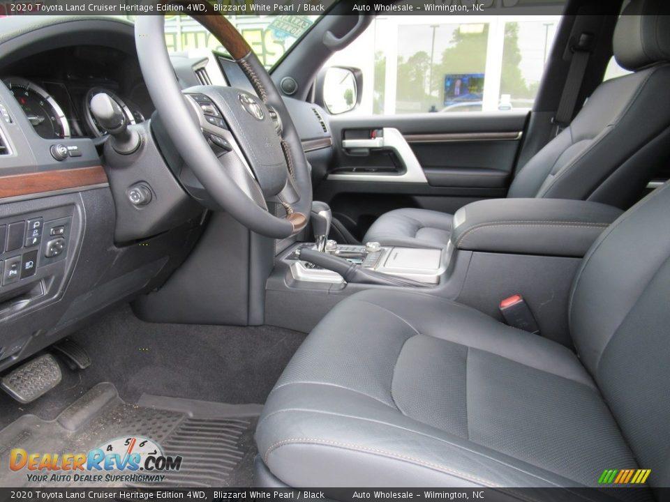 2020 Toyota Land Cruiser Heritage Edition 4WD Blizzard White Pearl / Black Photo #9