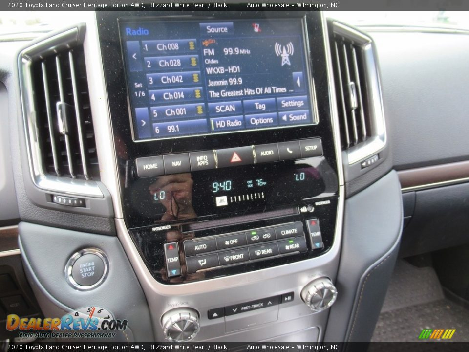 2020 Toyota Land Cruiser Heritage Edition 4WD Blizzard White Pearl / Black Photo #17