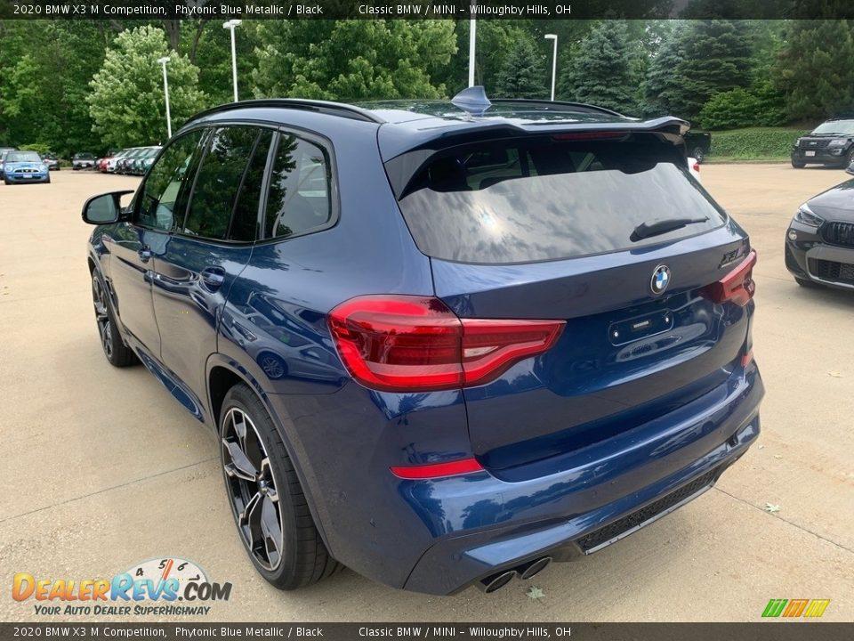 2020 BMW X3 M Competition Phytonic Blue Metallic / Black Photo #2