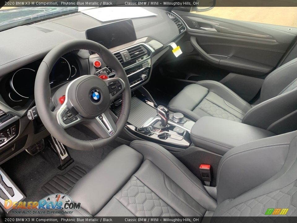 Black Interior - 2020 BMW X3 M Competition Photo #3