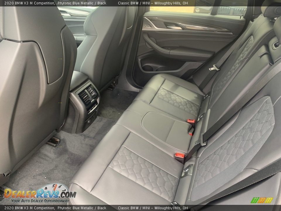 Rear Seat of 2020 BMW X3 M Competition Photo #4