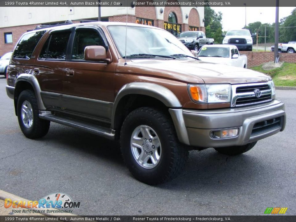 1999 Toyota 4runner Limited 4x4 Autumn Blaze Metallic