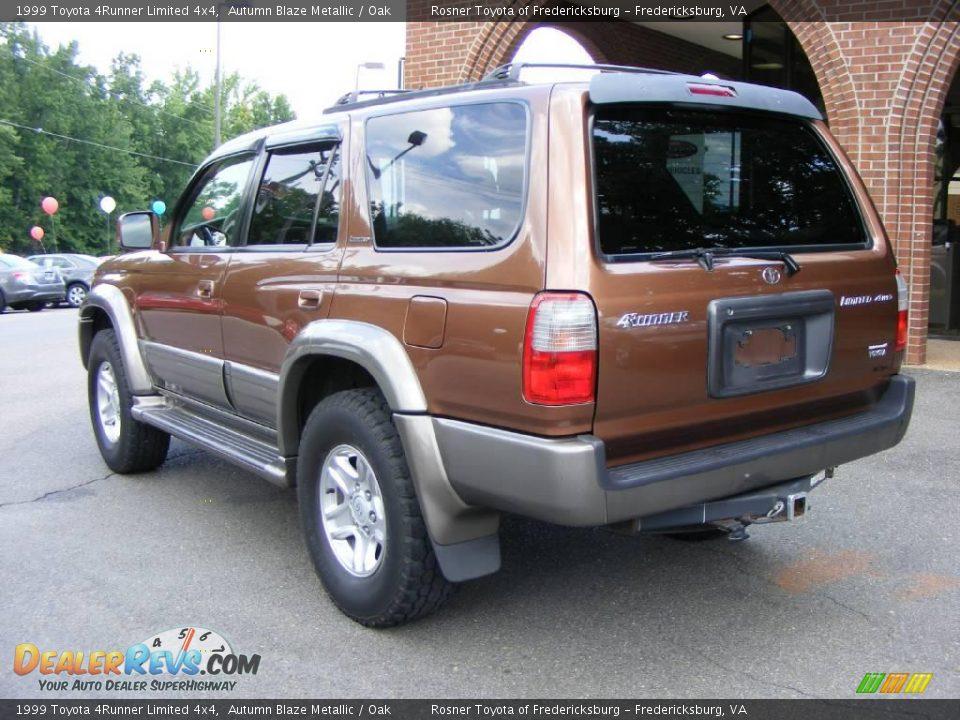 1999 Toyota 4runner Limited 4x4 Autumn Blaze Metallic