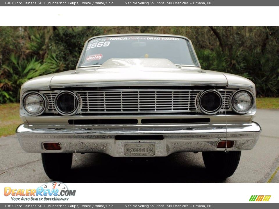 White 1964 Ford Fairlane 500 Thunderbolt Coupe Photo #3
