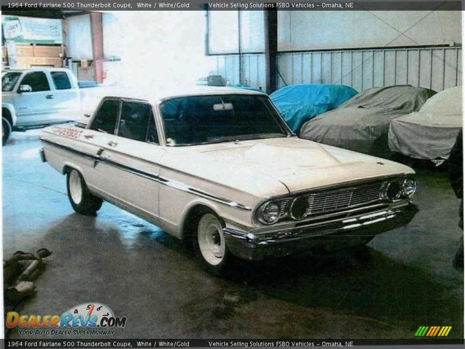 White 1964 Ford Fairlane 500 Thunderbolt Coupe Photo #18