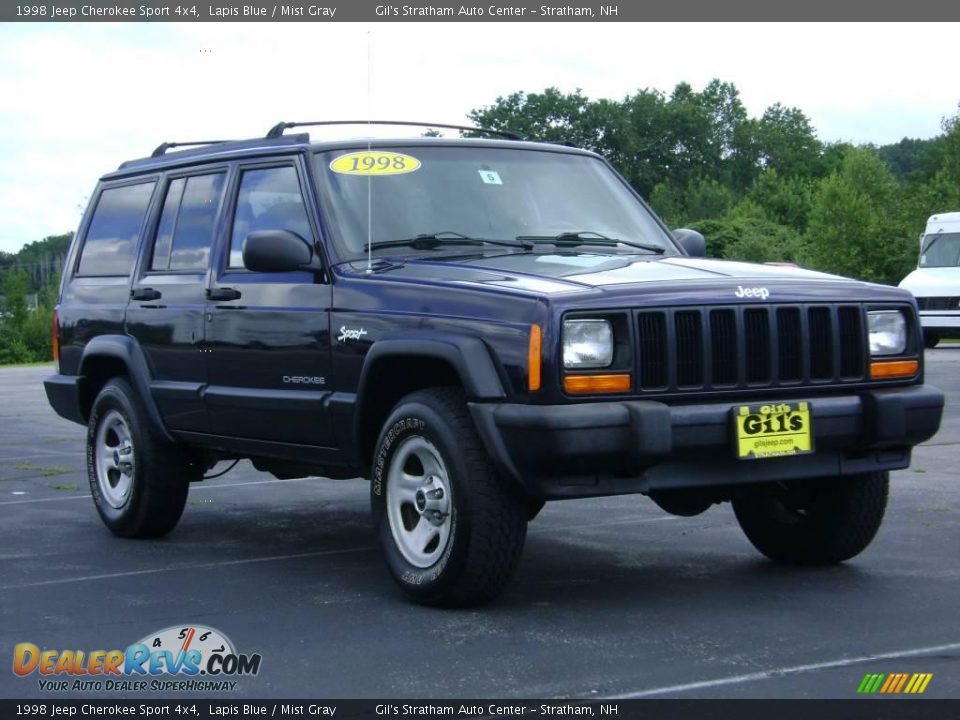 1998 jeep cherokee sport 4x4 lapis blue mist gray photo. Black Bedroom Furniture Sets. Home Design Ideas