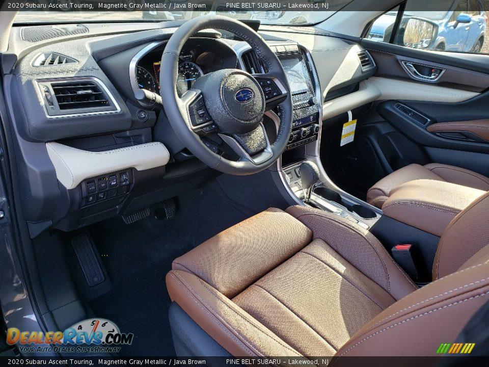 2020 Subaru Ascent Touring Magnetite Gray Metallic / Java Brown Photo #12