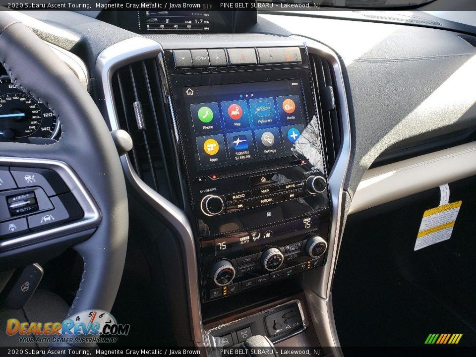 2020 Subaru Ascent Touring Magnetite Gray Metallic / Java Brown Photo #13