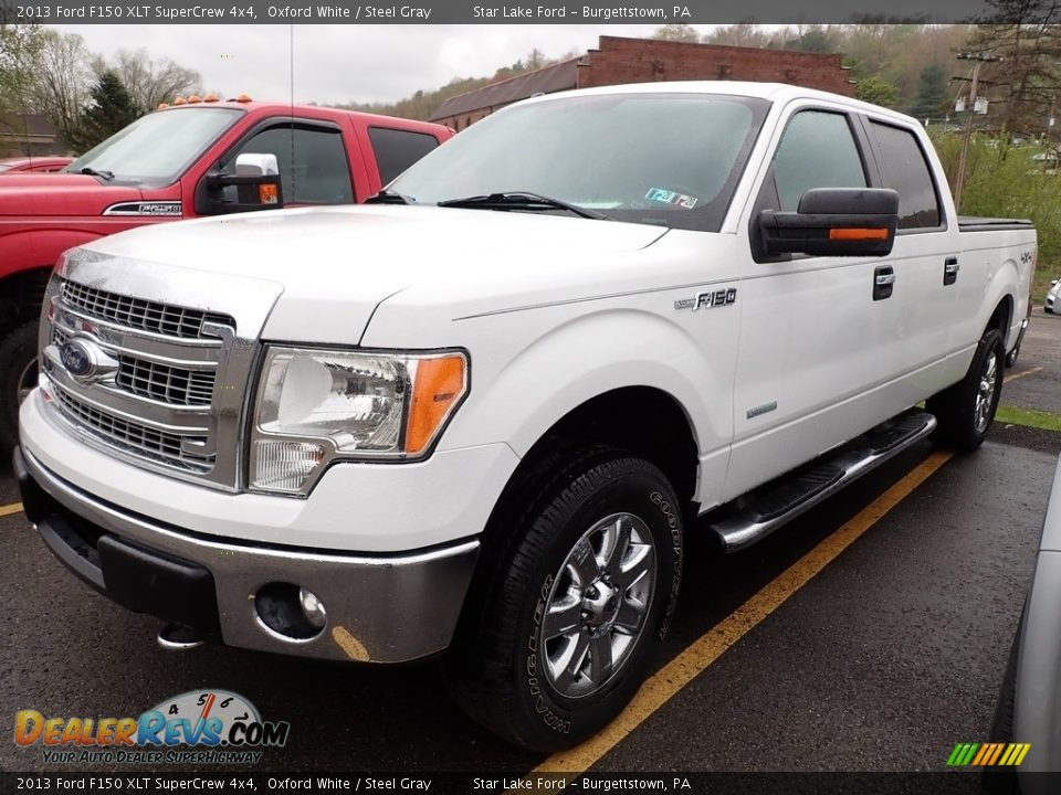 2013 Ford F150 XLT SuperCrew 4x4 Oxford White / Steel Gray Photo #1