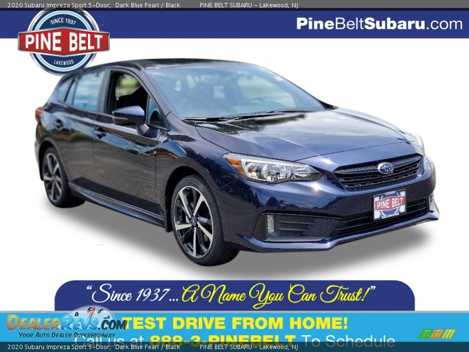 2020 Subaru Impreza Sport 5-Door Dark Blue Pearl / Black Photo #1
