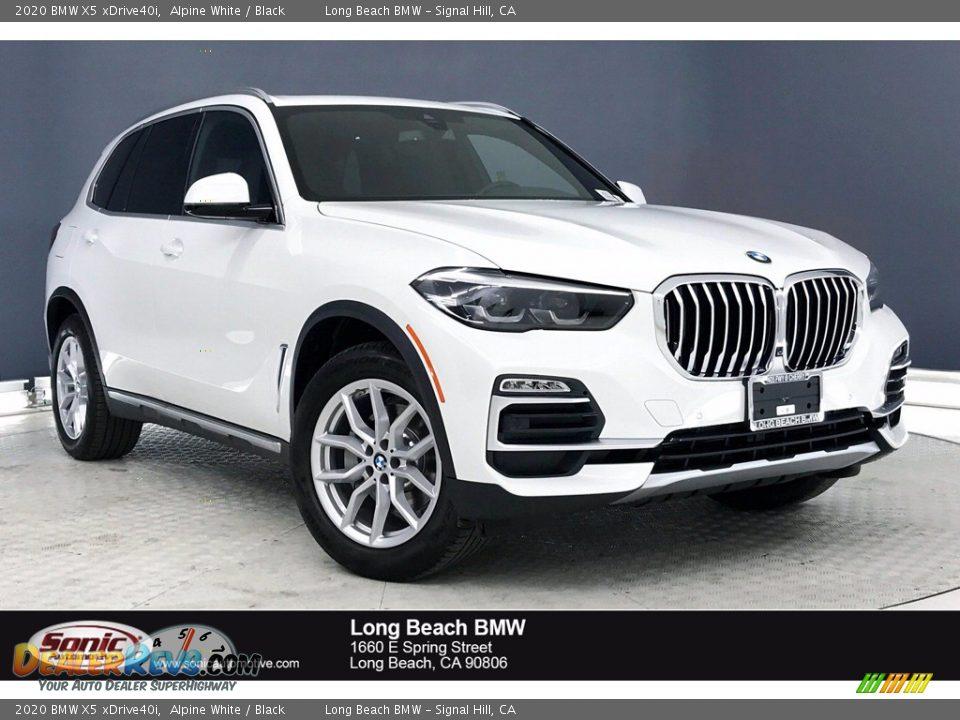 2020 BMW X5 xDrive40i Alpine White / Black Photo #1