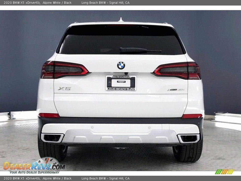 2020 BMW X5 xDrive40i Alpine White / Black Photo #3