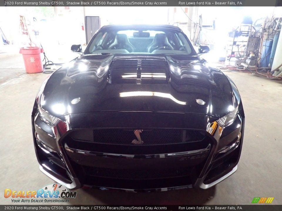 2020 Ford Mustang Shelby GT500 Shadow Black / GT500 Recaro/Ebony/Smoke Gray Accents Photo #8