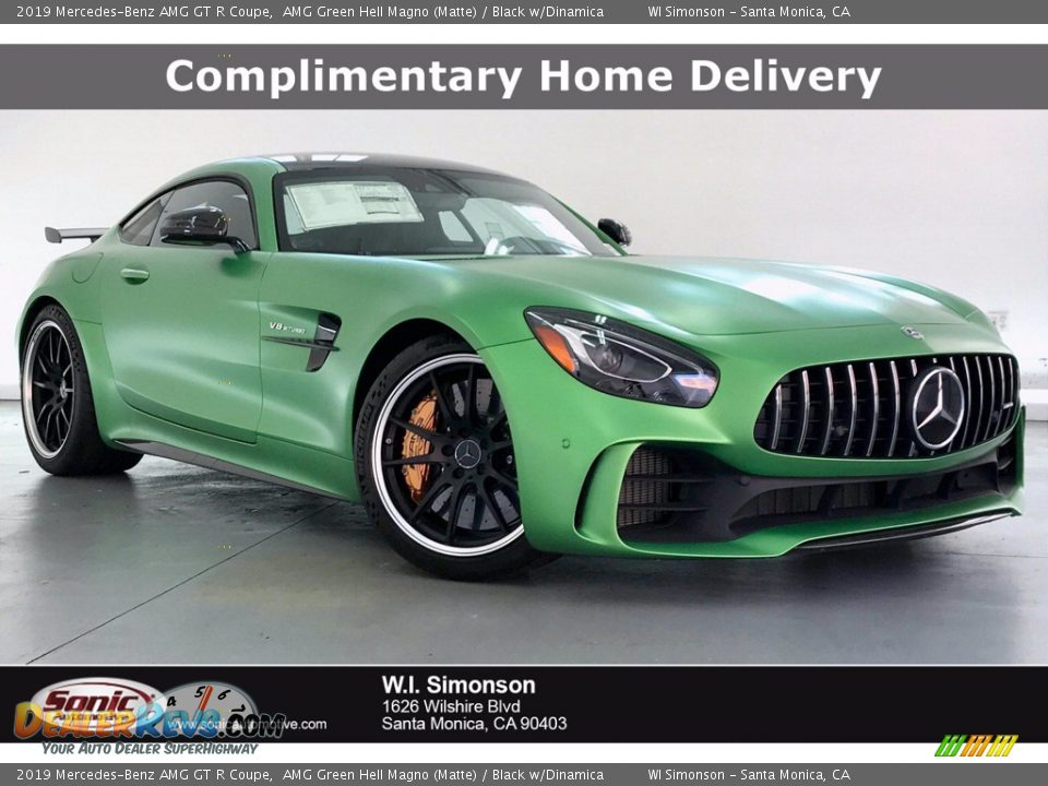 2019 Mercedes-Benz AMG GT R Coupe AMG Green Hell Magno (Matte) / Black w/Dinamica Photo #1